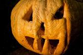 Halloween pumpkin in evening — Stock Photo
