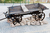 Old cart in nature — Stock Photo