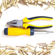 Screwdriver and pliers - Foto Stock