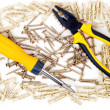 Stock Photo: Screwdriver and pliers