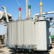 Transformer on high power station - Stock Photo