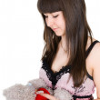 Girl with toy — Stock Photo #5582493