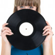 Royalty-Free Stock Photo: Girl with vinyl disc