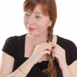Red-haired woman — Stock Photo