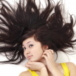Stock Photo: Womwith scatter hair