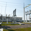 High-voltage substation - Stock Photo