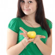 Stock Photo: Woman with apple
