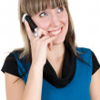 Woman with cell phone — Stock Photo