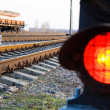 Royalty-Free Stock Photo: Stop signal lamp on railway