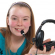 Girl with headphones — Stock Photo #5582860