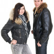 Stock Photo: Couple dressed for winter