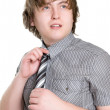 Young man in shirt — Stock Photo