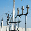Stock Photo: High-voltage substation