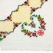 Stock Photo: Part of embroidered serviette