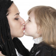 Mother kiss — Stock Photo