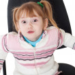 Little girl in chair — Stock Photo