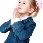 Praying little girl — Stock Photo