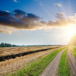 Sunset over field — Stock Photo #5587216