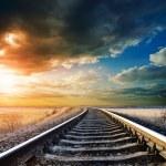 Railway to horizon — Stock Photo #5587480