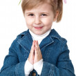 Praying girl - Stock Photo