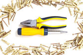 Screwdriver and pliers — Stock Photo