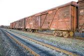 Rusty train wagons — Stock Photo