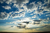 Dramatic lighted clouds — Stock Photo