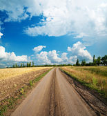 Road go to clouds — Stock Photo