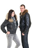 Couple dressed for winter — Stock Photo