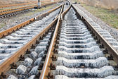 Railway crossing — Stock Photo
