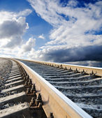 Railway going in heaven — Stock Photo