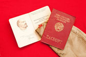 Soviet era passport and party card — Stock Photo