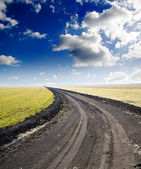 Road to hazy horizon — Stock Photo