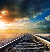 Demiryolu için ufuk — Stok fotoğraf