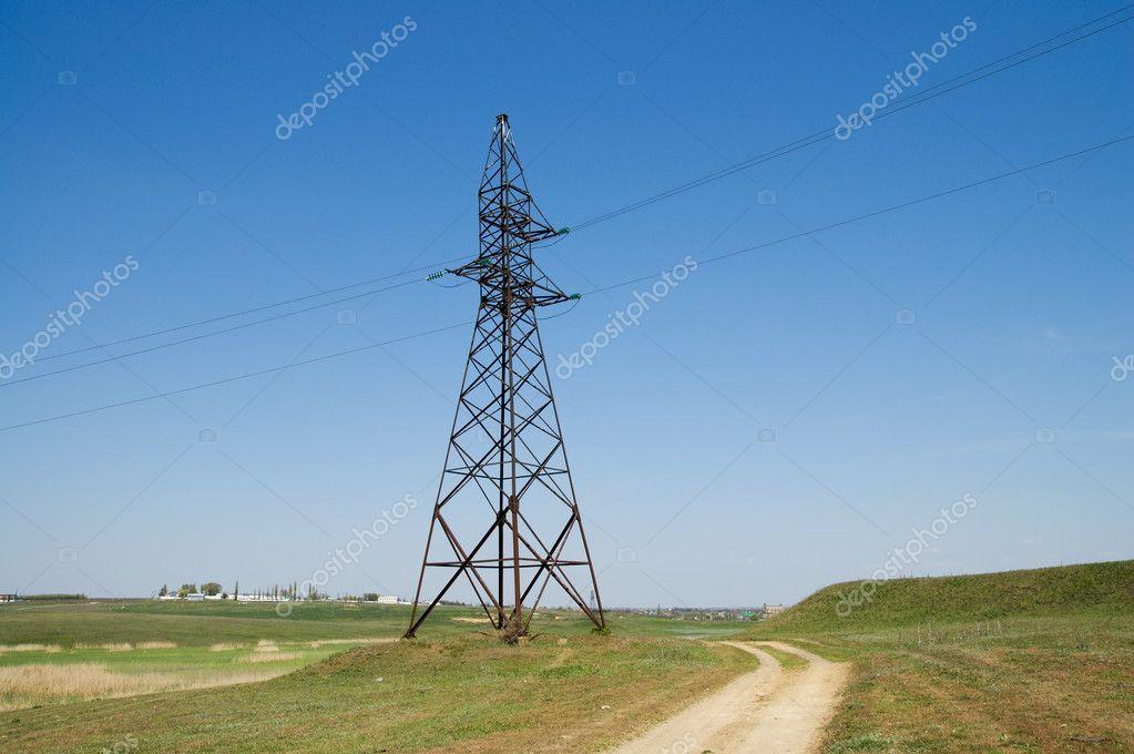 电力输电塔– 图库图片
