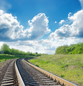 Railway goes to horizon — Stock Photo