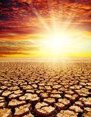 Coucher de soleil rouge — Photo