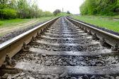 Ferrovia va all'orizzonte — Foto Stock