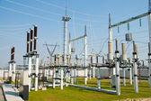 Hoog-voltage onderstation — Stockfoto
