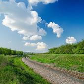 Railway goes to horizon — Stock Photo