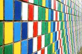 Kolorowe ściany — Zdjęcie stockowe