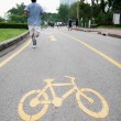 Stock Photo: Bike lane
