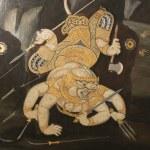 Thai temple wall art — Stock Photo