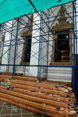 An ancient thai temple under renovation. — Stock Photo