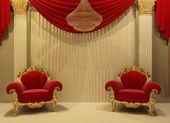 Baroque furniture in royal interior — Stock Photo