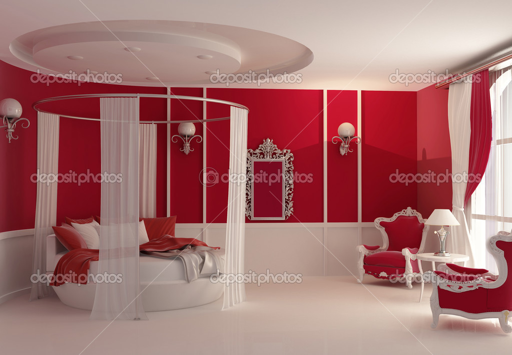 Furniture in luxury bedroom — Stock Photo © VictoriaAndrea #