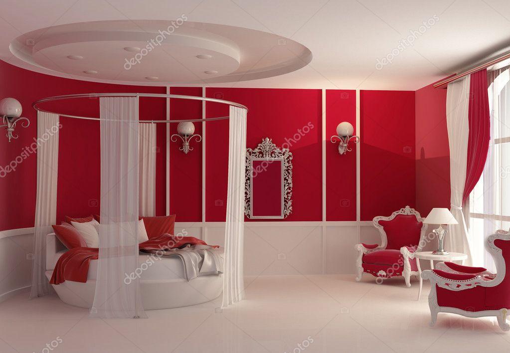 Furniture in luxury bedroom — Stock Photo © VictoriaAndrea #