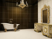 Baroque furniture in bathroom — Stock Photo