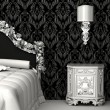 Baroque furniture in bedroom — Stock Photo