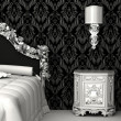 Baroque furniture in bedroom - Stock Photo